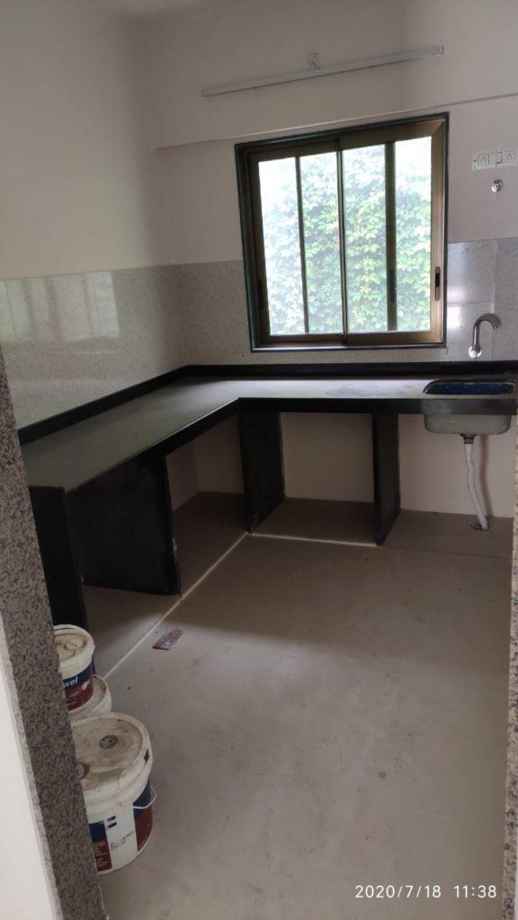 Kitchen of the sample flat at Worli